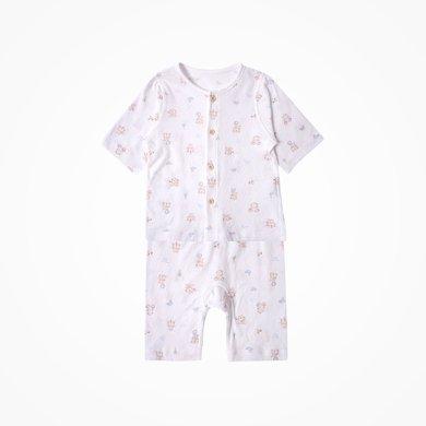 丑丑嬰幼 春夏新款男女寶寶中袖前開套裝休閑家居服套裝 CJD789X