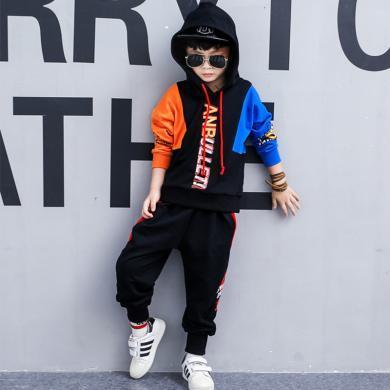 ocsco 童裝春秋裝新款男童套裝兒童服裝中大童男孩長袖運動兩件套潮