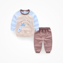 丑丑婴幼春秋新款男宝宝两件套针织套装 CKE702X