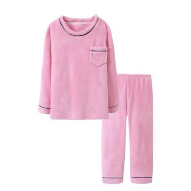 媽唯樂Marvelous Kids兒童睡衣套裝法蘭絨加絨加厚秋冬新款中大童家居服套裝睡衣