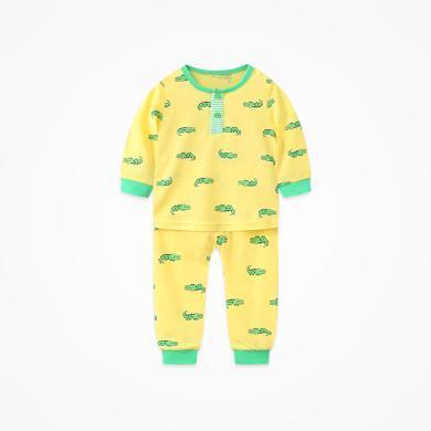 丑丑嬰幼 男童長袖可愛套裝春季新款男寶寶卡通外出服套裝1-2歲  CHE730X
