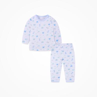 丑丑嬰幼 四季新款純棉長袖肩開套裝男女童卡通圓領內衣家居服套裝  CND714X
