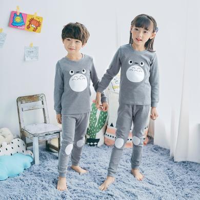 ocsco 秋冬季新款童装时尚可爱印花男女童睡衣套装休闲长袖家居服两件套