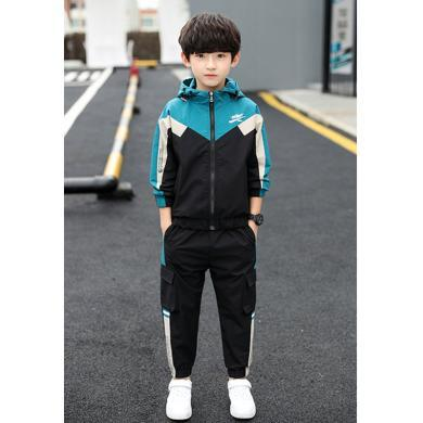 ocsco 童裝套裝秋季新款男童兩件套中大童套褲時尚穿搭運動裝潮