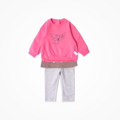 丑丑嬰幼 女寶寶可愛衛衣套裝春秋季女童時尚休閑套裝 CKE760X