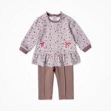 丑丑婴幼女童可爱公主裙式娃娃衫套装CKE761X