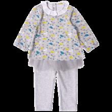 丑丑婴幼女童长袖可爱娃娃T恤套装 CKE751X