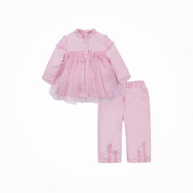 丑丑嬰幼 女寶寶公主棉套裝冬季女童甜美保暖棉衣套裝6個月-3歲 CKE761W