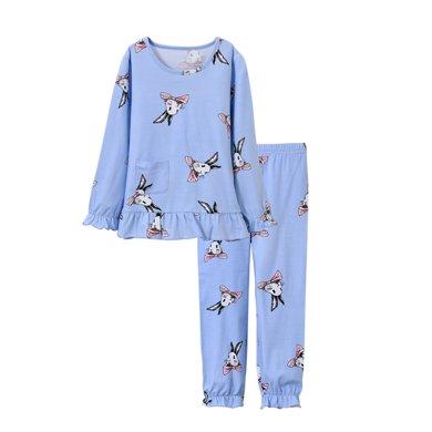 妈唯乐Marvelous Kids女童睡衣春秋薄款公主儿童睡衣可爱家居服套装3-12岁