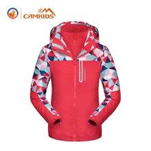 camkids垦牧女童冲锋衣两件套冬季新款小童户外冲锋衣三合一