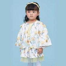 丑丑婴幼 夏季新款 女宝宝 康乃馨印花套装2-7岁 CLE751W