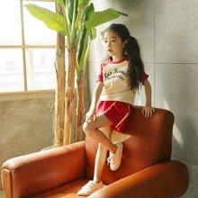 诗茵2019新款夏季韩版童装女童纯棉印花短袖T恤+短裤两件套装中大童亲子装套装80241