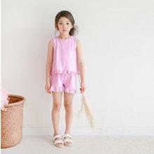 诗茵童套装夏2018夏季新品纯棉荷叶边套装夏韩版女中大童套装80265