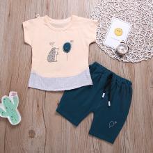ocsco 男女宝宝夏装新款儿童短袖套装小童2-3岁婴儿童装两件套