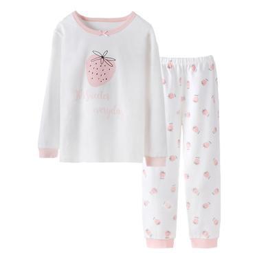 爸媽親兒童內衣套裝寶寶秋衣秋褲套裝全棉兒童保暖內衣套裝女童長袖套裝86281