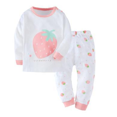 爸媽親女寶寶內衣套裝純棉兒童秋衣秋褲套裝女童長袖家居服套裝88738