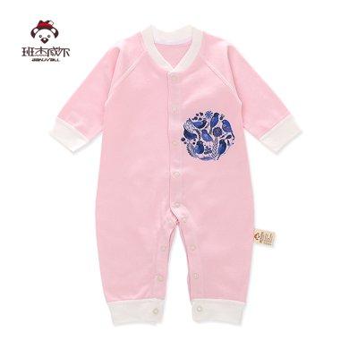 班杰威爾新生兒精梳棉春夏寶寶內衣哈衣初生嬰兒連體衣服