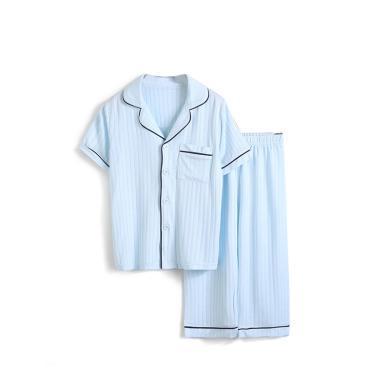 爸妈亲儿童家居服夏新儿童短袖套装男童女童睡衣空调服亲子家居服96009