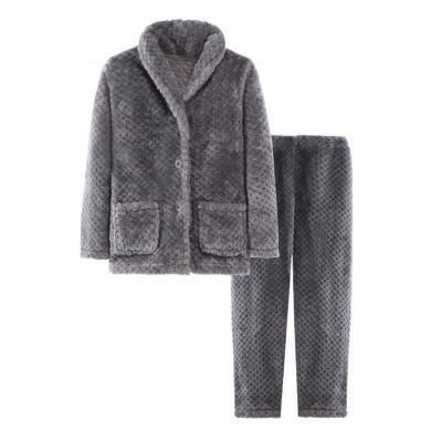 兒童法蘭絨睡衣套裝秋冬新款男童女童家居服套裝秋冬親子睡衣