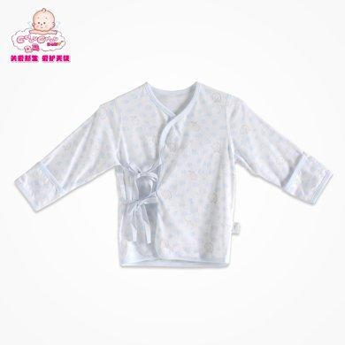 丑丑嬰幼春季新款男女寶寶0-1歲中性純棉綁帶上衣家居服內衣 CDD201T