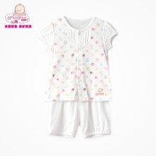 丑丑婴幼夏季新款男女宝宝夏季前开短套装3个月-2岁宝宝家居服套CFD728X
