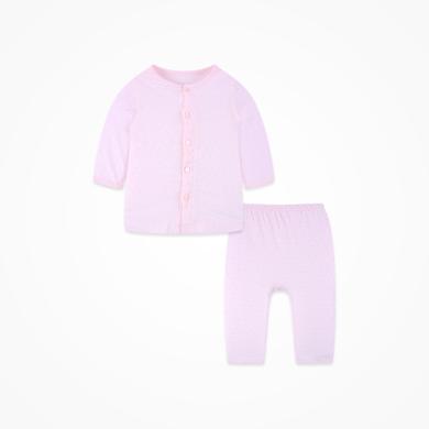 丑丑嬰幼 男女寶寶純棉前開中袖套裝夏季男女童內衣家居服套裝1-3歲 CHD710X