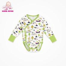 丑丑婴幼长袖包臀衣新生儿衣服婴儿长袖纯棉爬服宝宝三角哈衣