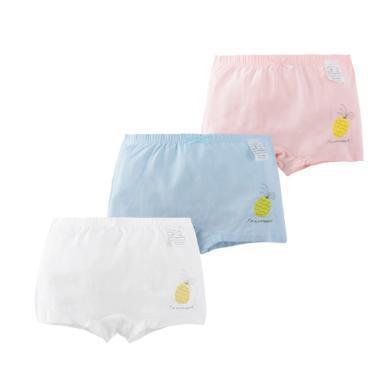 爸媽親女童內褲純棉平角女寶寶平角內褲兒童內褲三條裝86350