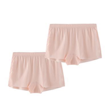 爸媽親兒童無痕內褲女童莫代爾夏天平角褲兩條裝kids女寶寶平角內褲87310