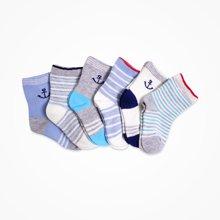 丑丑婴幼 婴幼男宝宝海军星座袜子 2双装 6-12个月 颜色随机发货