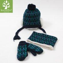 KK树宝宝帽子围巾手套三件套冬天男女童小孩秋冬儿童帽子套装一体  KQ15401  包邮