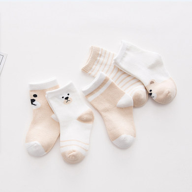 妈唯乐 Marvelous Kids 婴幼儿童袜子秋冬新款可爱卡通全棉?#20449;?#23453;宝袜子5双装