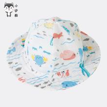 嬰兒紗布帽子寶寶遮陽帽純棉新生兒帽子防曬嬰幼兒盆帽夏