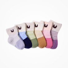 丑丑婴幼 男女袜子宝宝童袜2017秋季新款婴儿袜子6-12个月 2件装