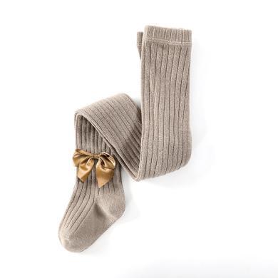 謎子 兒童襪子秋冬新款女童打底連褲襪中小童長襪子修身彈力連腳襪甜美蝴蝶結