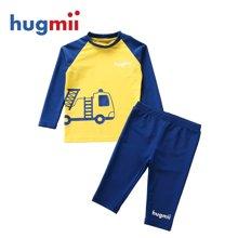 hugmii 新款长袖泳衣套装 儿童款