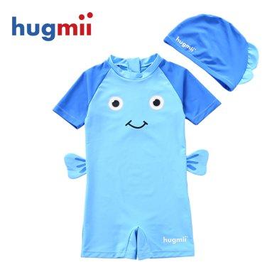 hugmii 造型海底世界泳衣泳帽套装