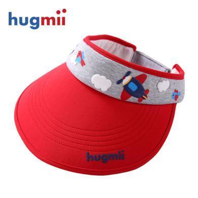 兒童帽子大帽檐空頂遮陽帽春夏男女童太陽帽寶寶帽棉