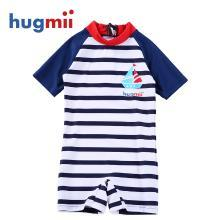 兒童連體泳衣男童女童寶寶小孩1-12歲條紋游泳衣泳褲