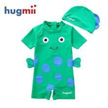 兒童連體泳衣海底世界連體立體造型泳衣泳帽寶寶小孩泳衣