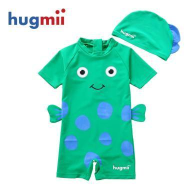 儿童连体泳衣海底世界连体立体造型泳衣泳帽宝宝小孩泳衣