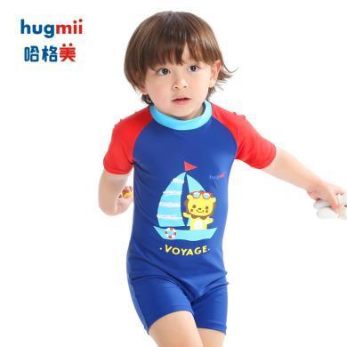 儿童泳衣?#20449;?#31461;连体宝宝可爱婴儿大小童卡通?#29123;?#28216;泳衣