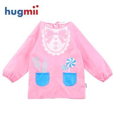 兒童罩衣反穿衣男女寶寶罩衣可愛中性長袖罩衫圍嘴圍裙畫