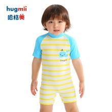 儿童连体泳衣条纹款女童宝宝小孩1-12岁群款背心游泳衣泳裤