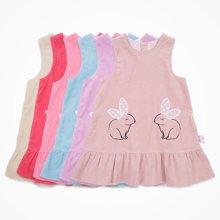 丑丑婴幼 女宝宝小兔子背心裙春秋季女童时尚连衣裙1-4岁 CJE356T