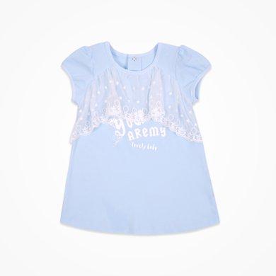 丑丑嬰幼 女寶寶時尚蕾絲連衣裙夏季女童短袖公主裙1-3歲 CJE352X