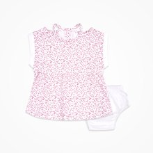 丑丑嬰幼女童短袖連衣裙套裝夏季新款女寶寶可愛娃娃連衣裙1-2歲CJE356X