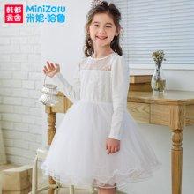 米妮哈鲁童装2018春装女童韩版裙子儿童蕾丝公主裙YO7840畵1226