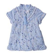 丑丑婴幼 新款女宝宝复古立领梅花旗袍1-4岁