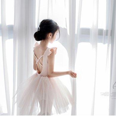 詩茵童裝夏季新款女童連衣裙子網紗芭蕾公主裙子兒童衣服80565